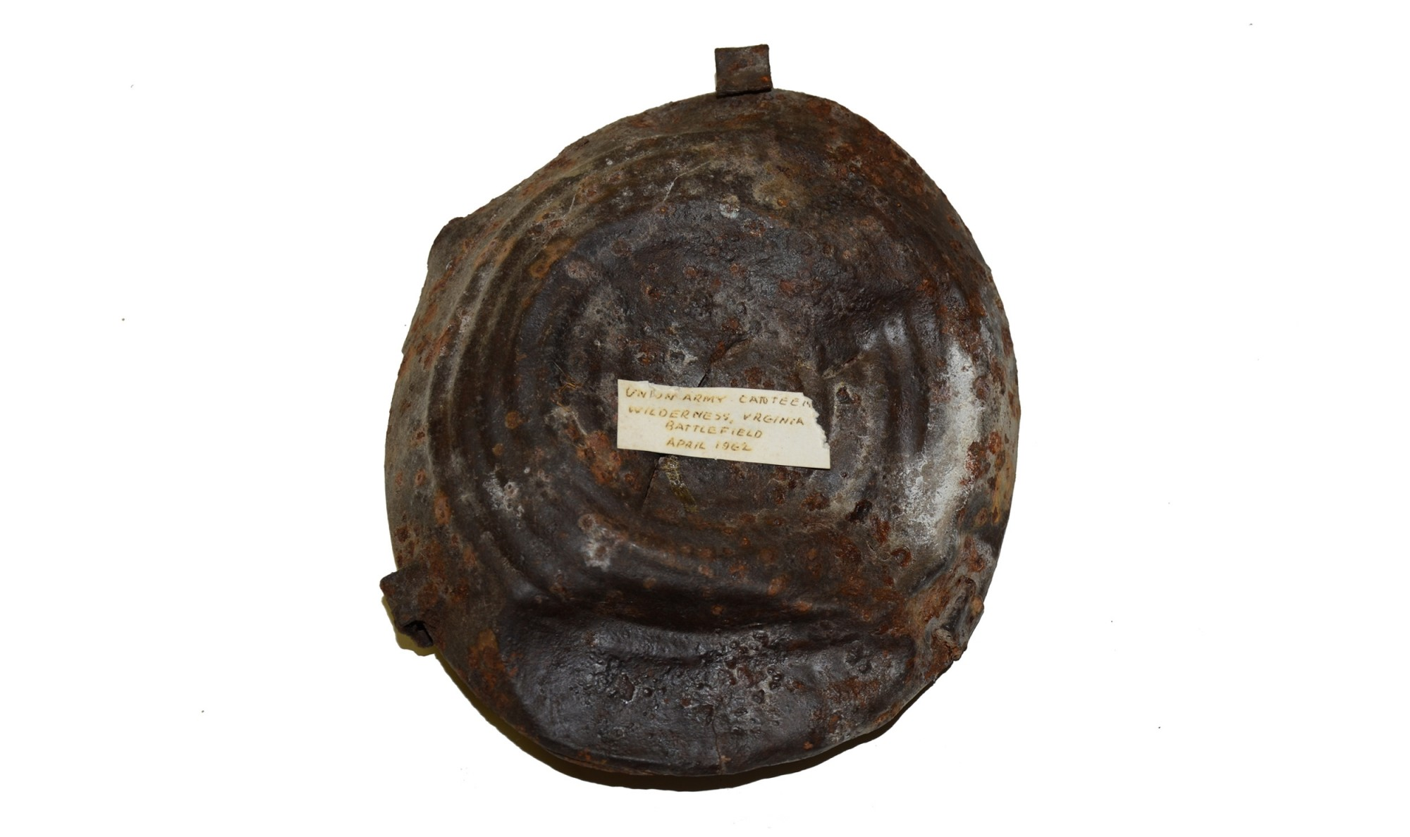 BULLSEYE CANTEEN RECOVERED AT THE WILDERNESS IN 1962