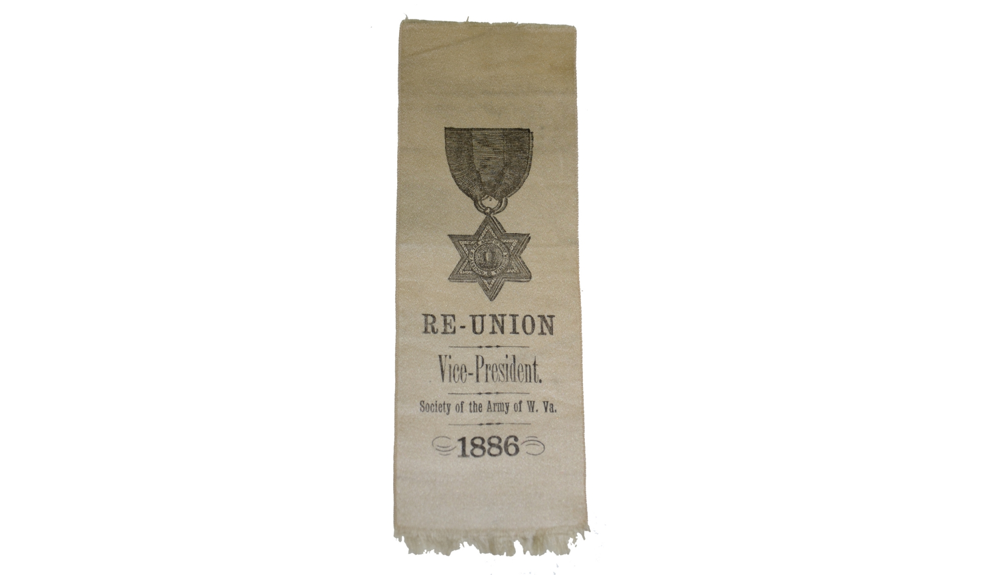 SOCIETY OF THE ARMY OF WEST VIRGINIA VICE-PRESIDENT REUNION RIBBON