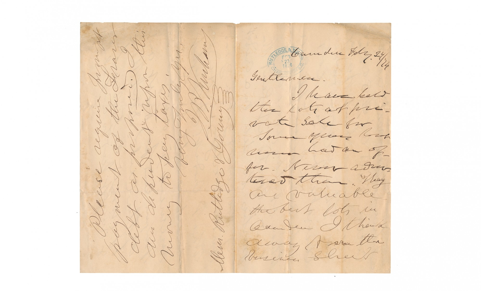 AUTOGRAPH LETTER SIGNED — JOSEPH BREVARD KERSHAW, BRIGADIER GENERAL, CSA