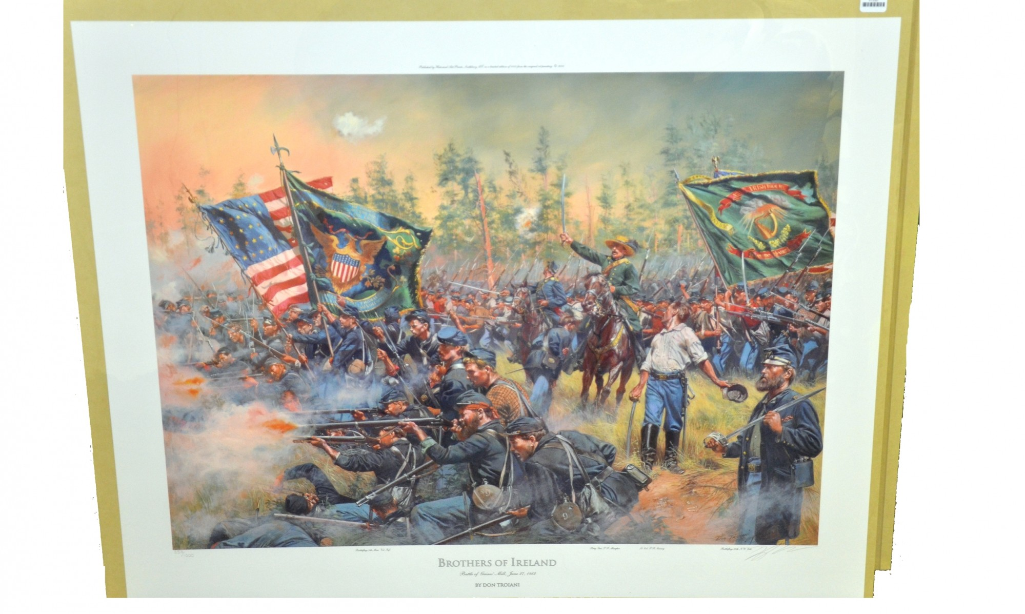 BROTHERS OF IRELAND, BATTLE OF GAINES' MILL, JUNE 27, 1862 – DON TROIANI