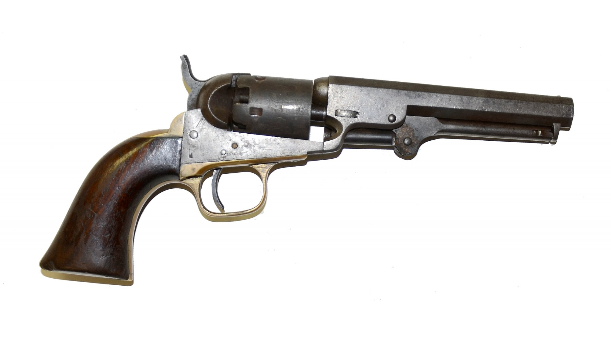 M1849 POCKET COLT REVOLVER ID'D TO PVT. ALONZO B. NELSON, 40TH NEW YORK INFANTRY - CAPTURED AT FREDERICKSBURG