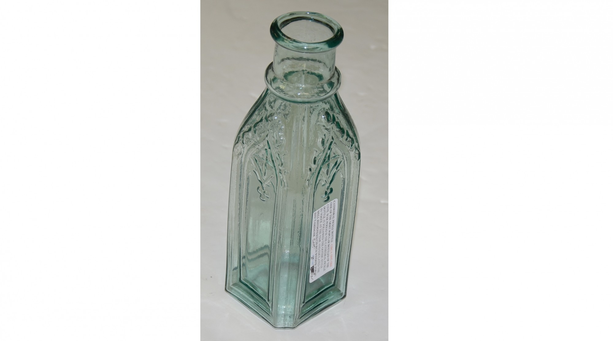 CATHEDRAL PICKLE BOTTLE, CIRCA 1845-1860