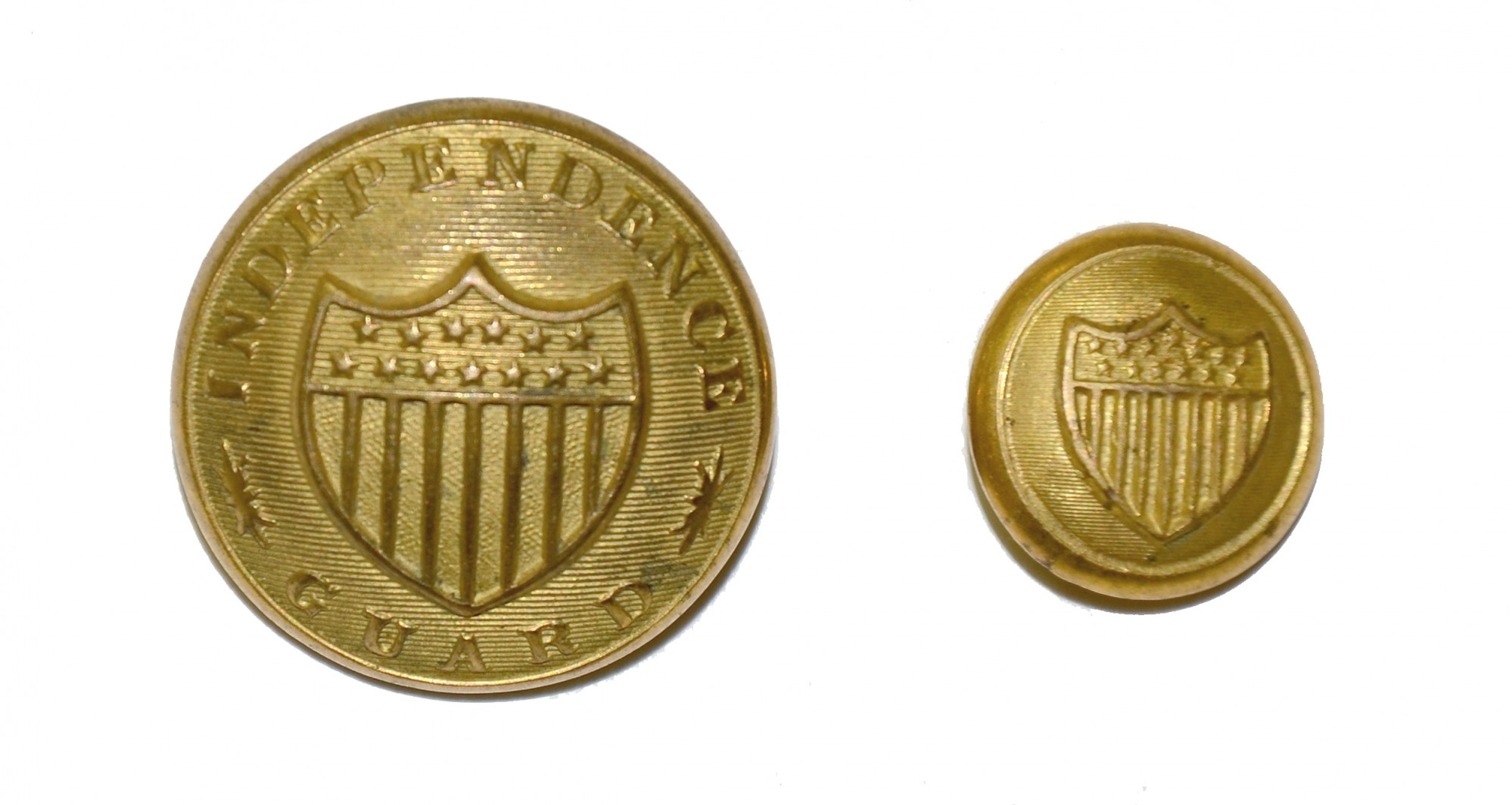 "TWO NEW YORK ""INDEPENDENCE GUARD"" BUTTONS"