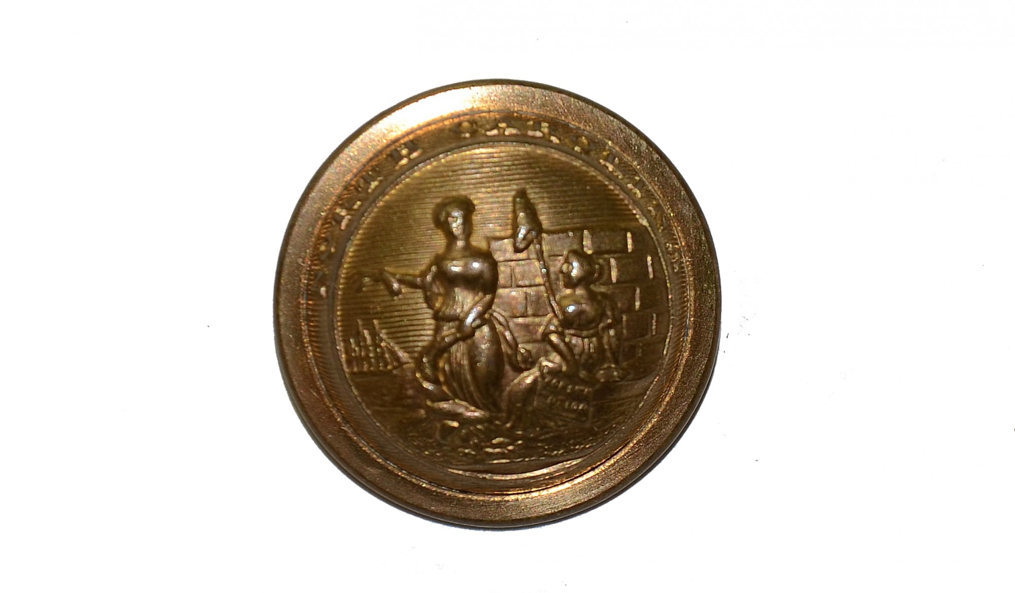 NORTH CAROLINA STATE SEAL BUTTON, COAT SIZE