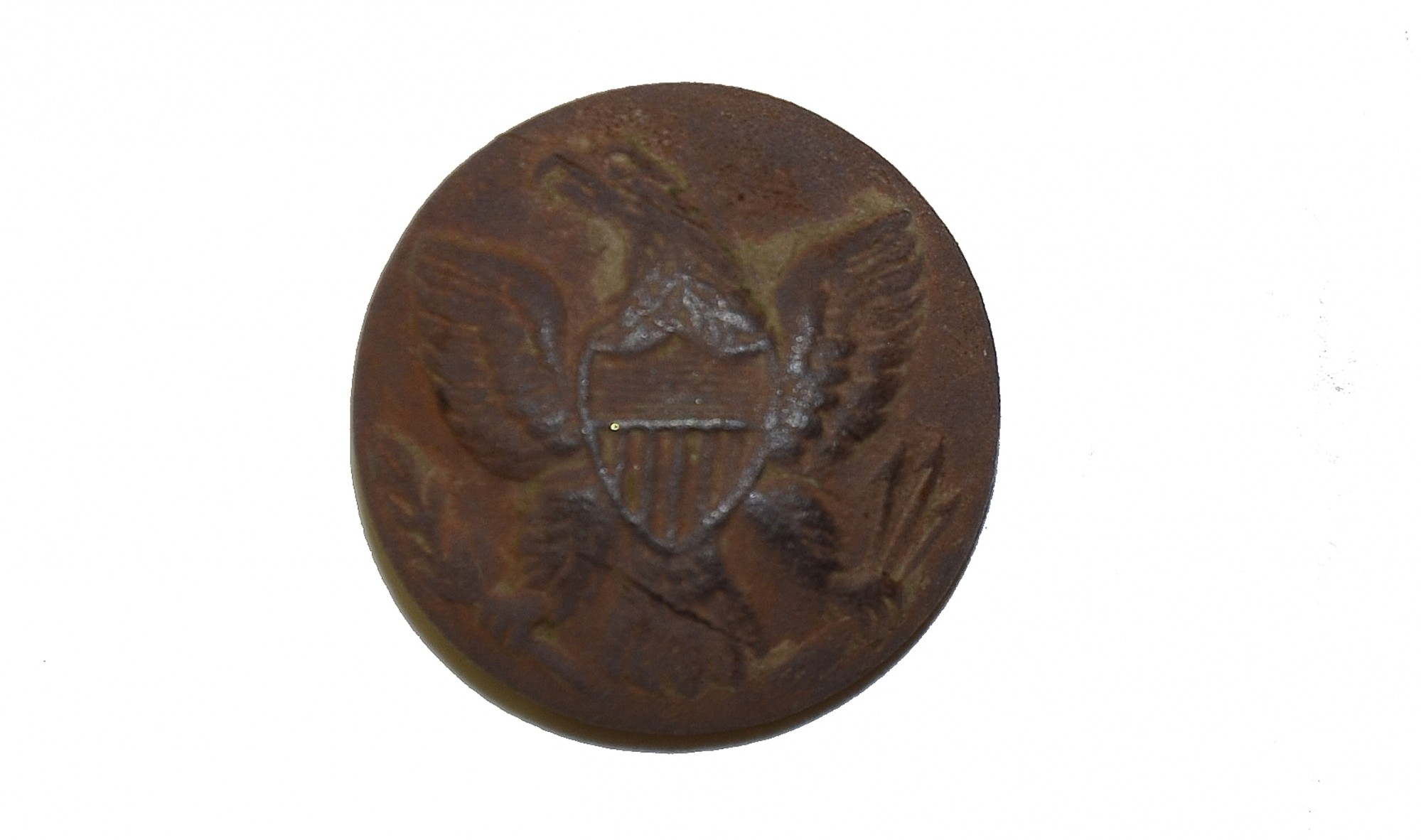 US GENERAL SERVICE EAGLE JACKET BUTTON, RECOVERED AT LITTLE ROUND TOP, GETTYSBURG