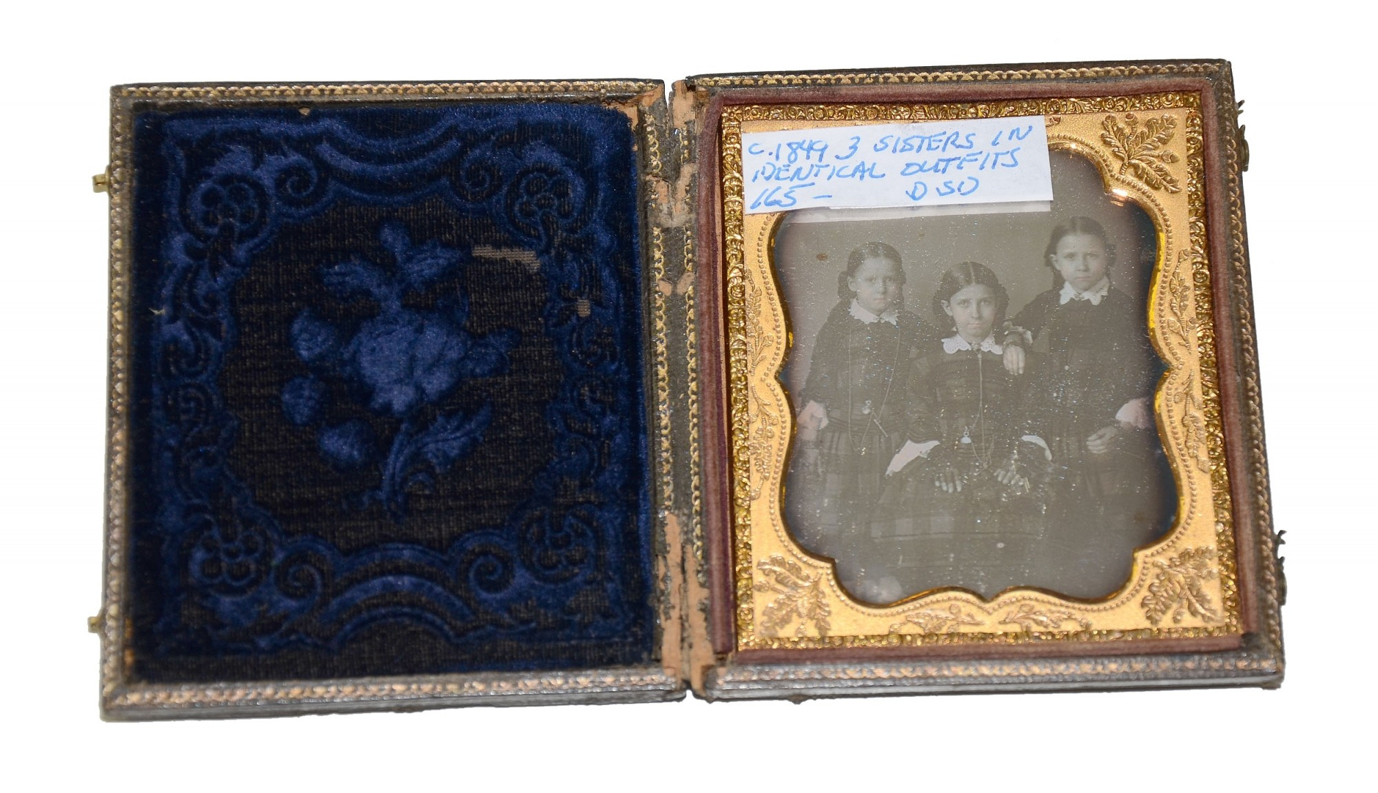 1840'S SIXTH PLATE DAGUERROTYPE OF THREE SISTERS