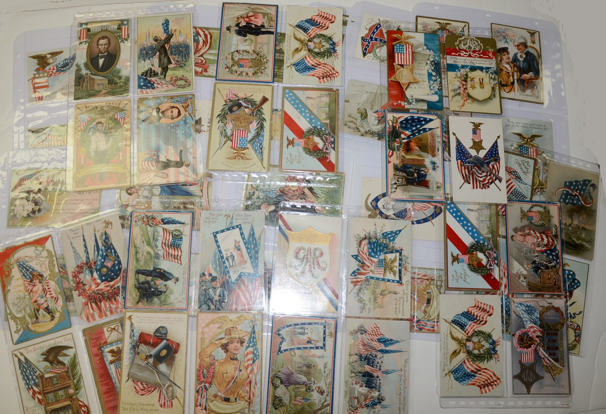 LARGE LOT OF PATRIOTIC POSTCARDS