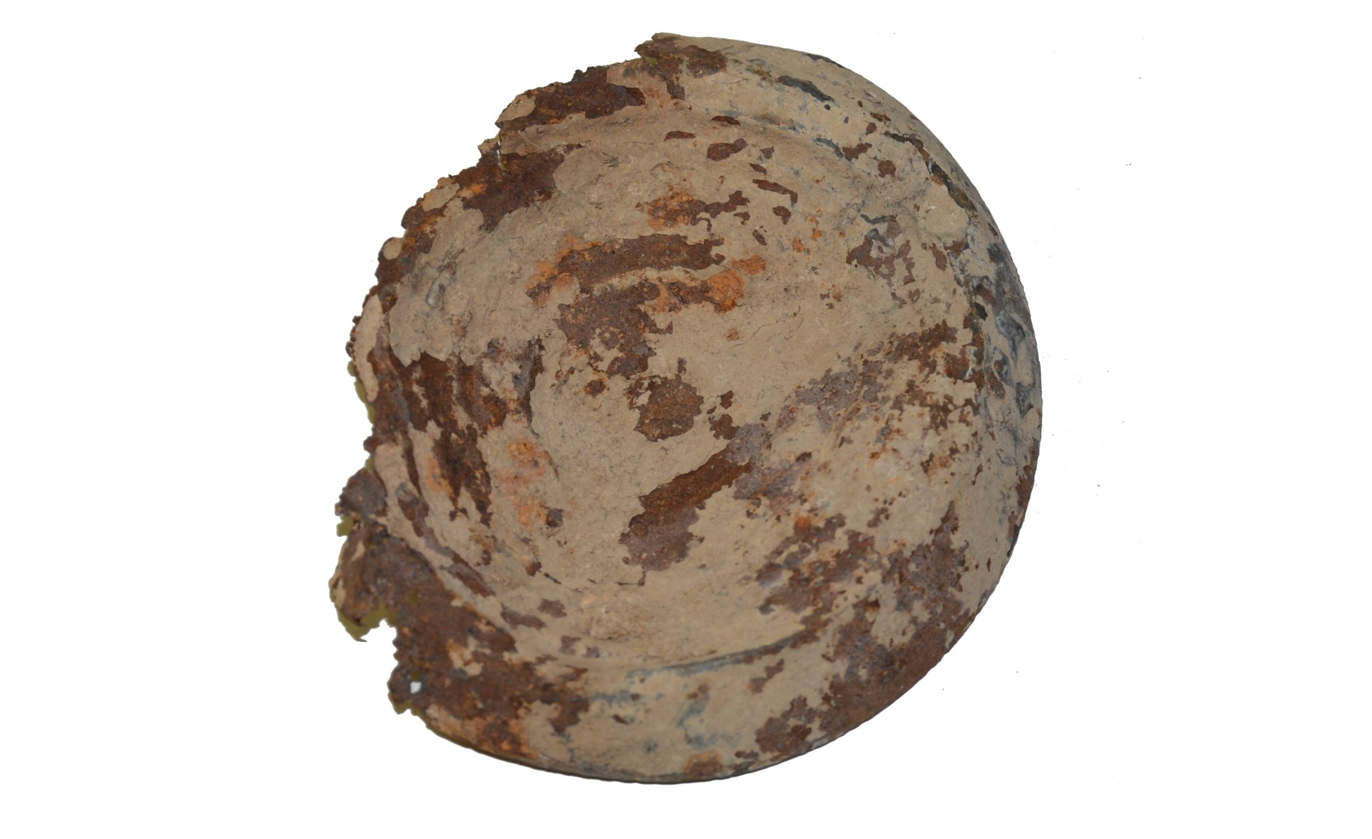 RELIC BULLSEYE CANTEEN HALF FROM COLD HARBOR