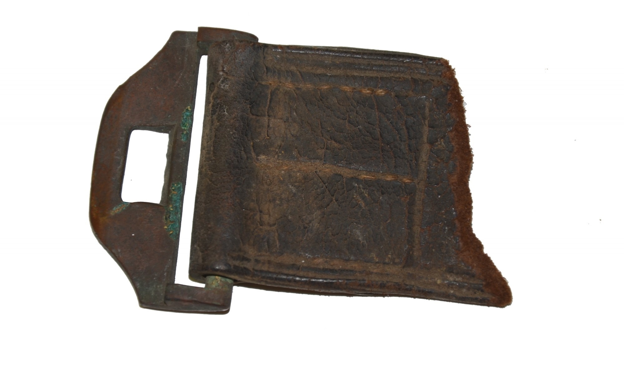 PIECE OF US MODEL 1851 BELT, RECOVERED AT GETTYSBURG