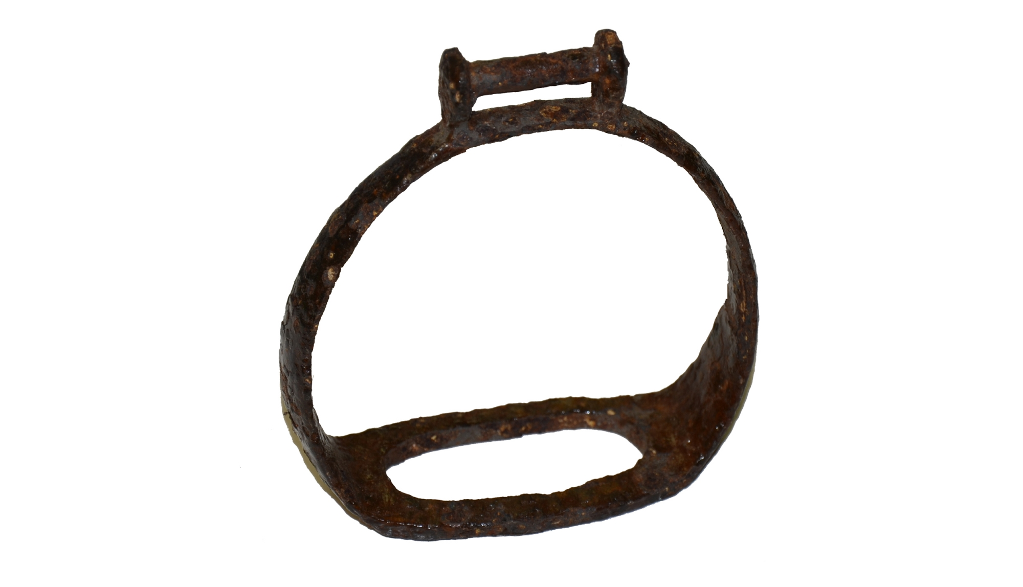 STANDARD IRON STIRRUP FROM EX-COLLECTION OF MAC MASON