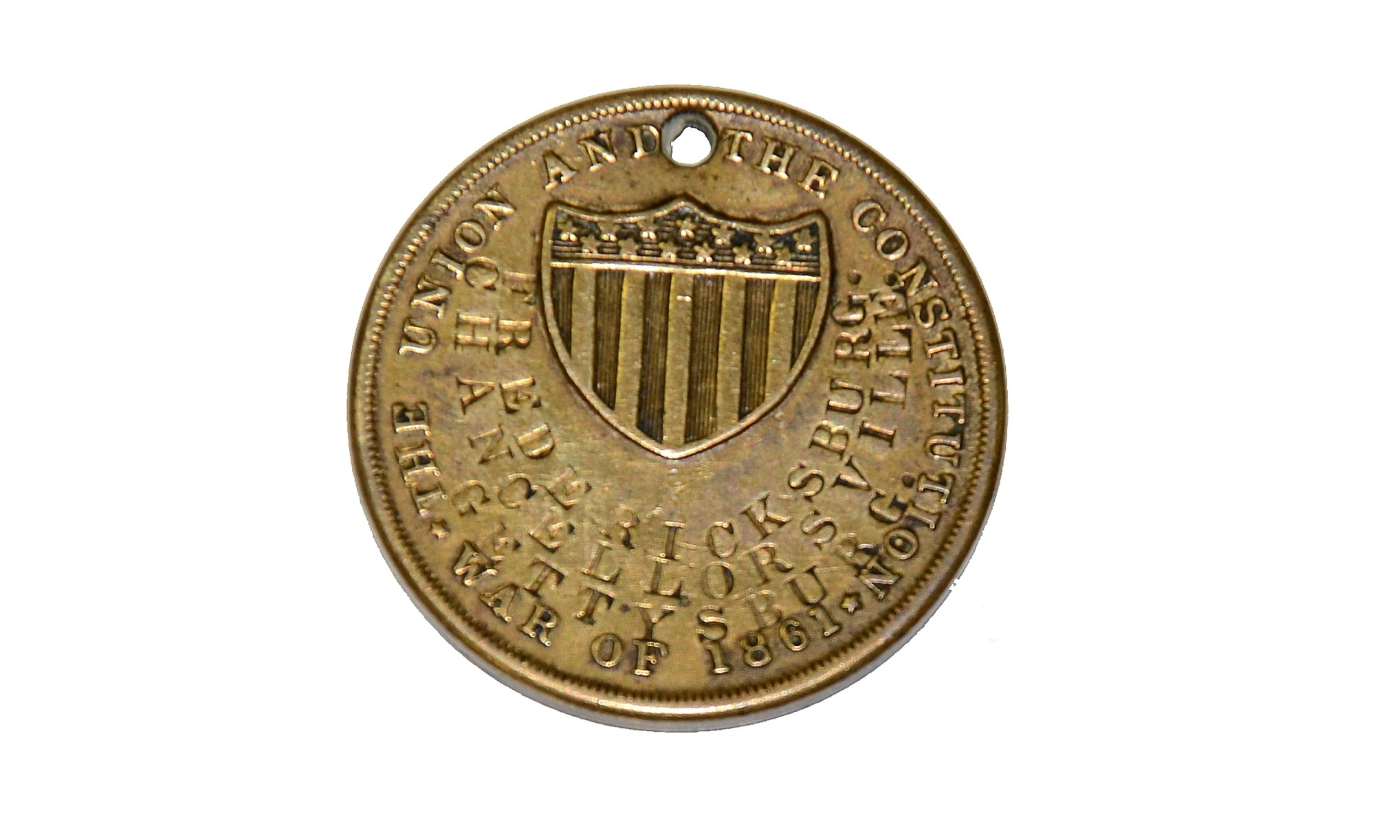 IDENTIFICATION DISK/DOGTAG WHICH BELONGED TO PRIVATE THEODORE FACER OF CO. G, 14TH U.S. INFANTRY