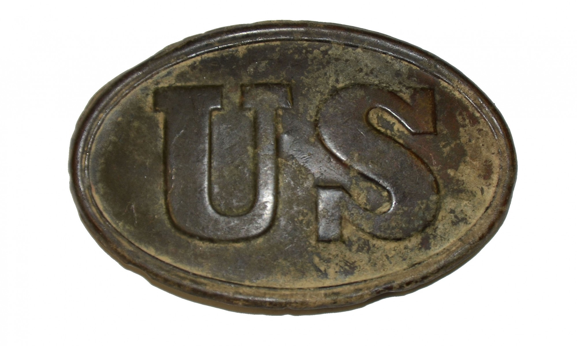 US PATTERN 1839 BELT PLATE FROM ROSENSTEEL GETTYSBURG COLLECTION