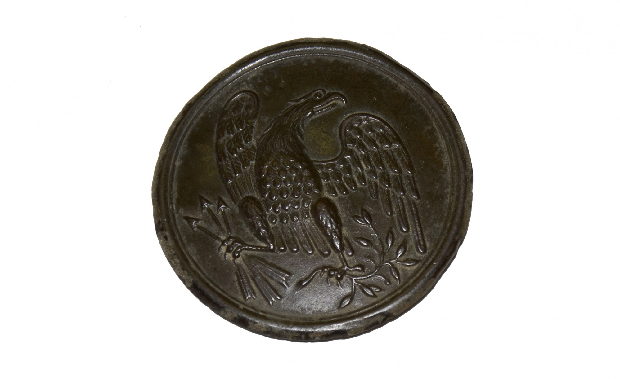 US PATTERN 1826 EAGLE BREAST PLATE FROM THE ROSENSTEEL GETTYSBURG COLLECTION