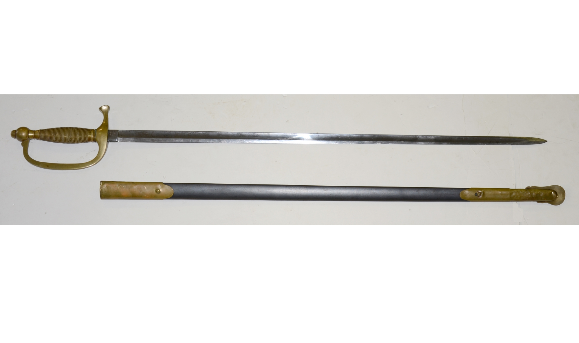 MODEL 1840 MUSICIAN'S SWORD AND SCABBARD BY EMERSON & SILVER