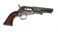 IDENTIFIED SILVER PLATED MODEL 1849 POCKET COLT MADE IN EARLY 1857P ID'D TO NEW YORK SERGEANT