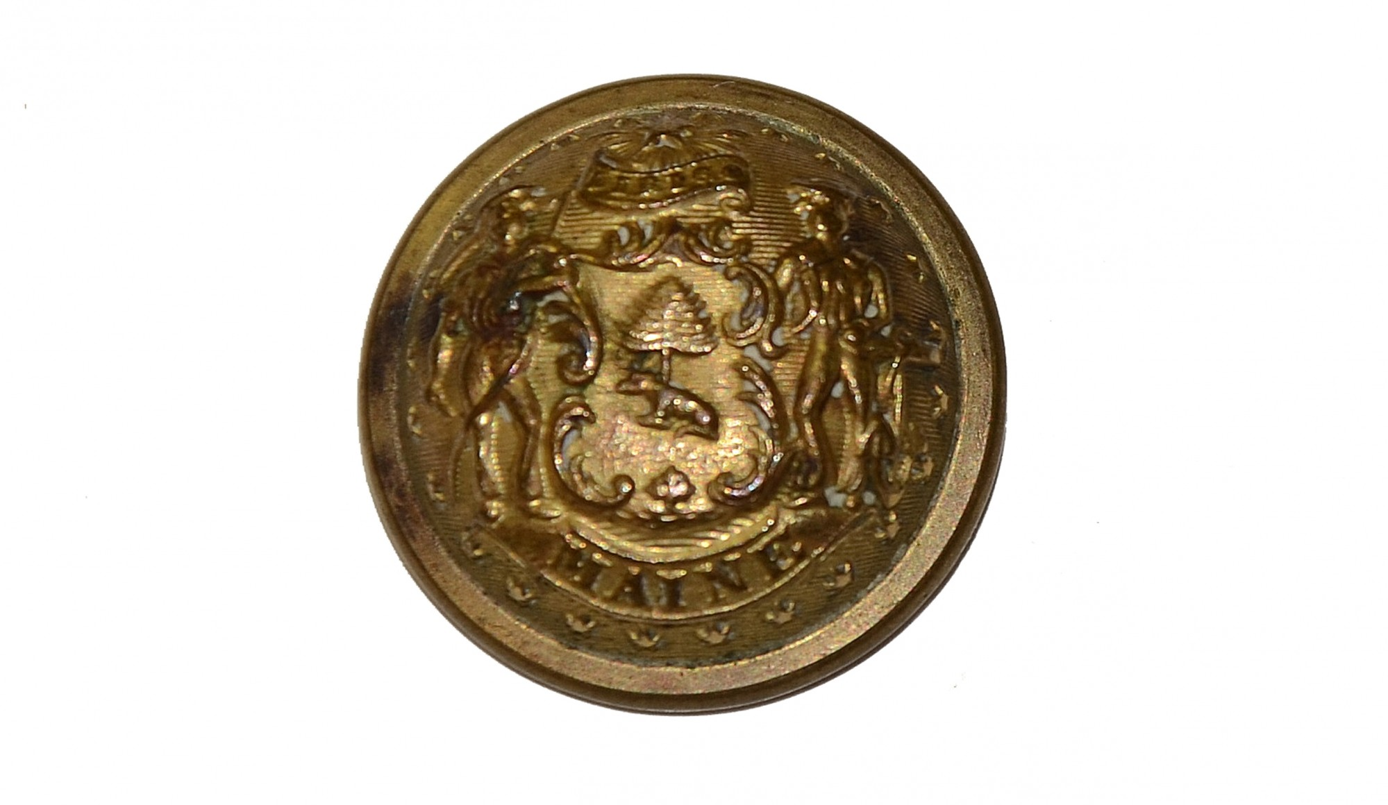 MAINE STATE SEAL BUTTON
