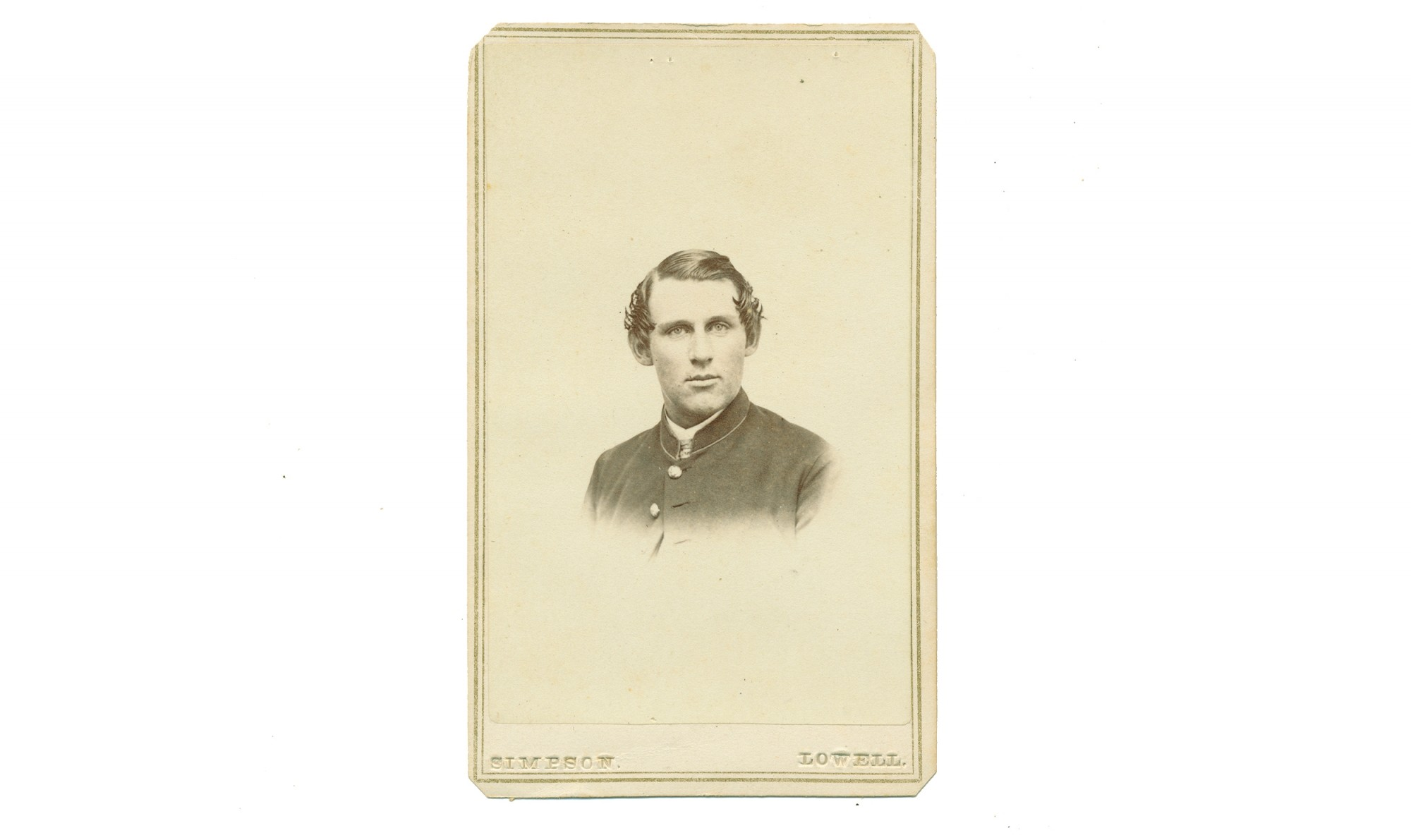 BUST VIEW CDV OF 4TH VERMONT COMMISSIONED ENLISTED MAN