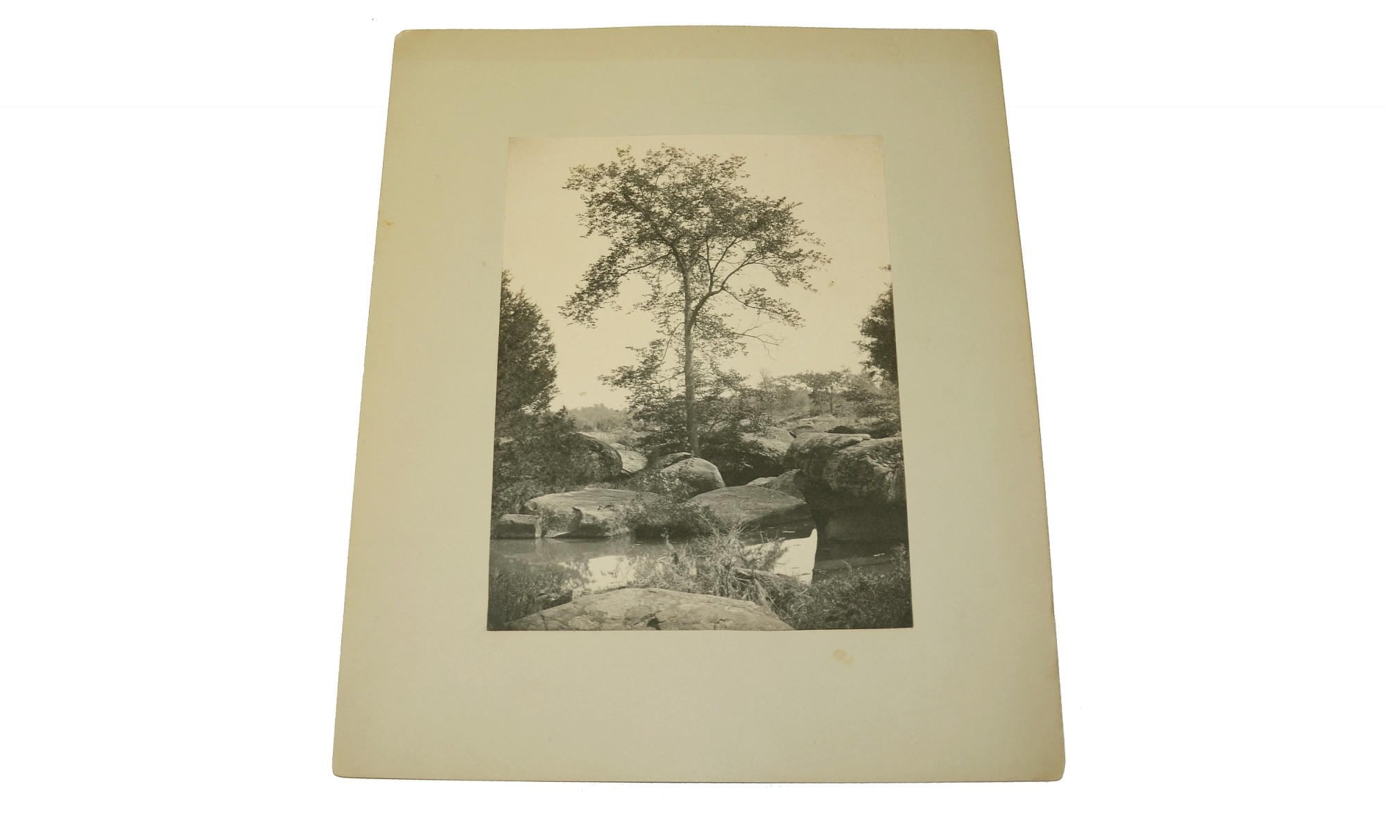 LARGE CABINET PHOTO OF THE SLAUGHTER PEN AT GETTYSBURG