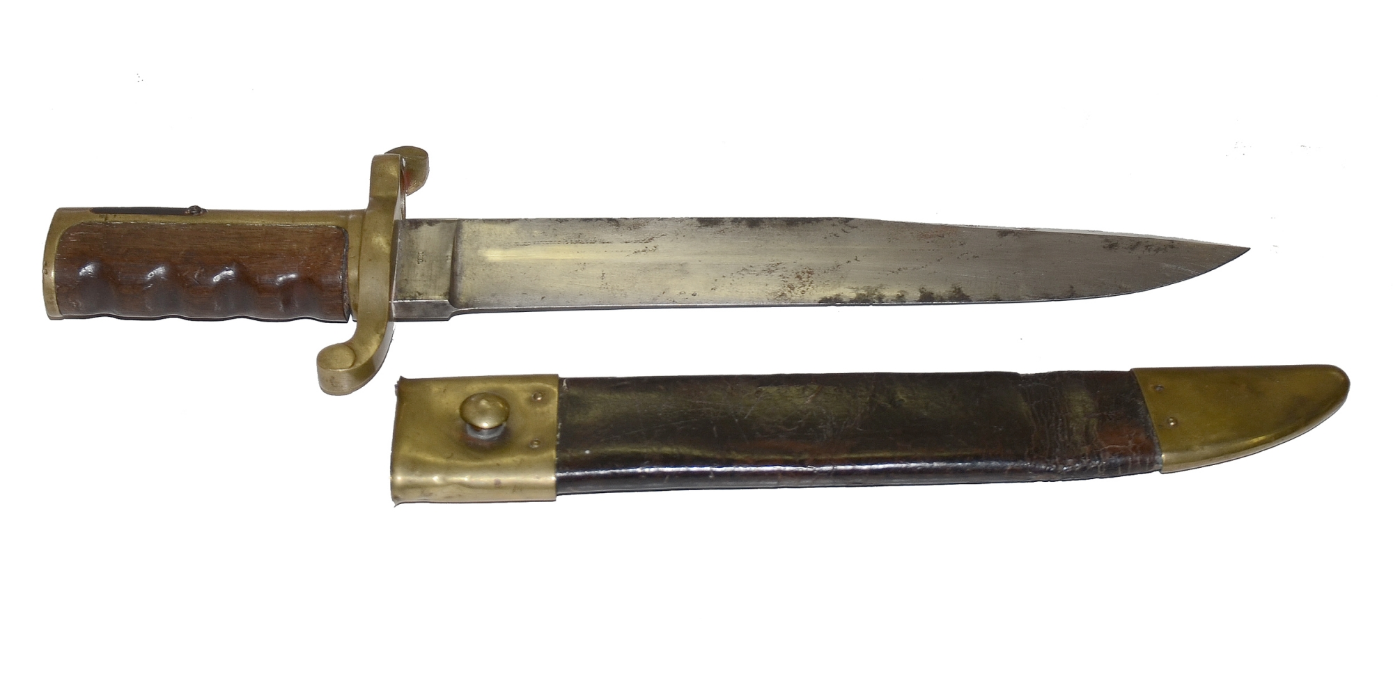 "DAHLBREN ""BOWIE"" BAYONET WITH SCABBARD"