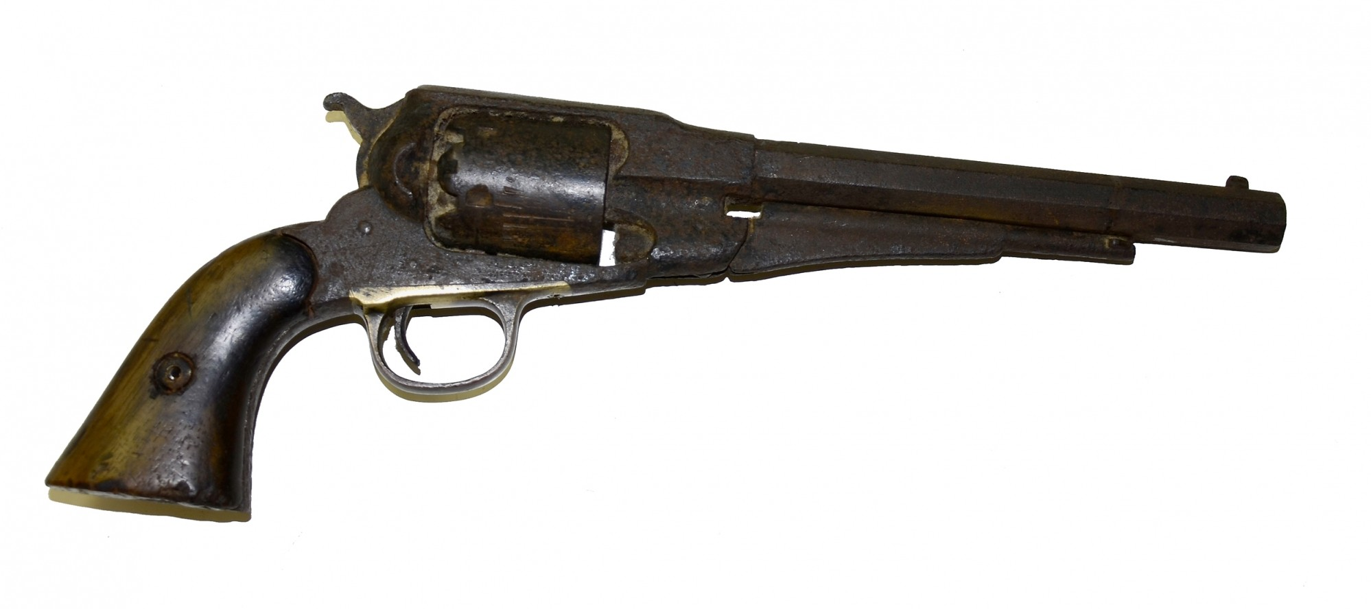 MODEL 1858 ARMY REVOLVER IN RELIC CONDITION FROM UNKNOWN LOCATION
