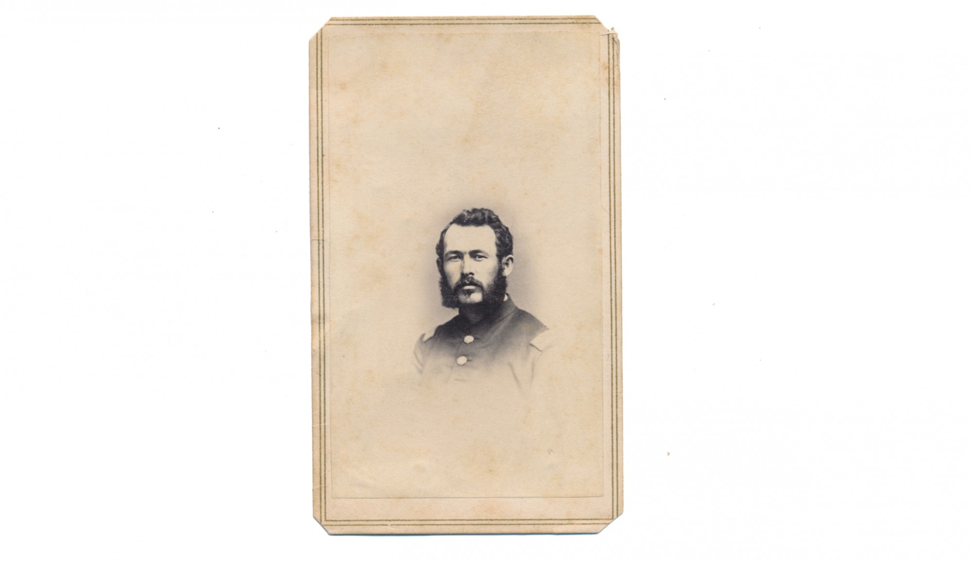 BUST VIEW CDV OF 10TH VERMONT AND 39TH USCT OFFICER