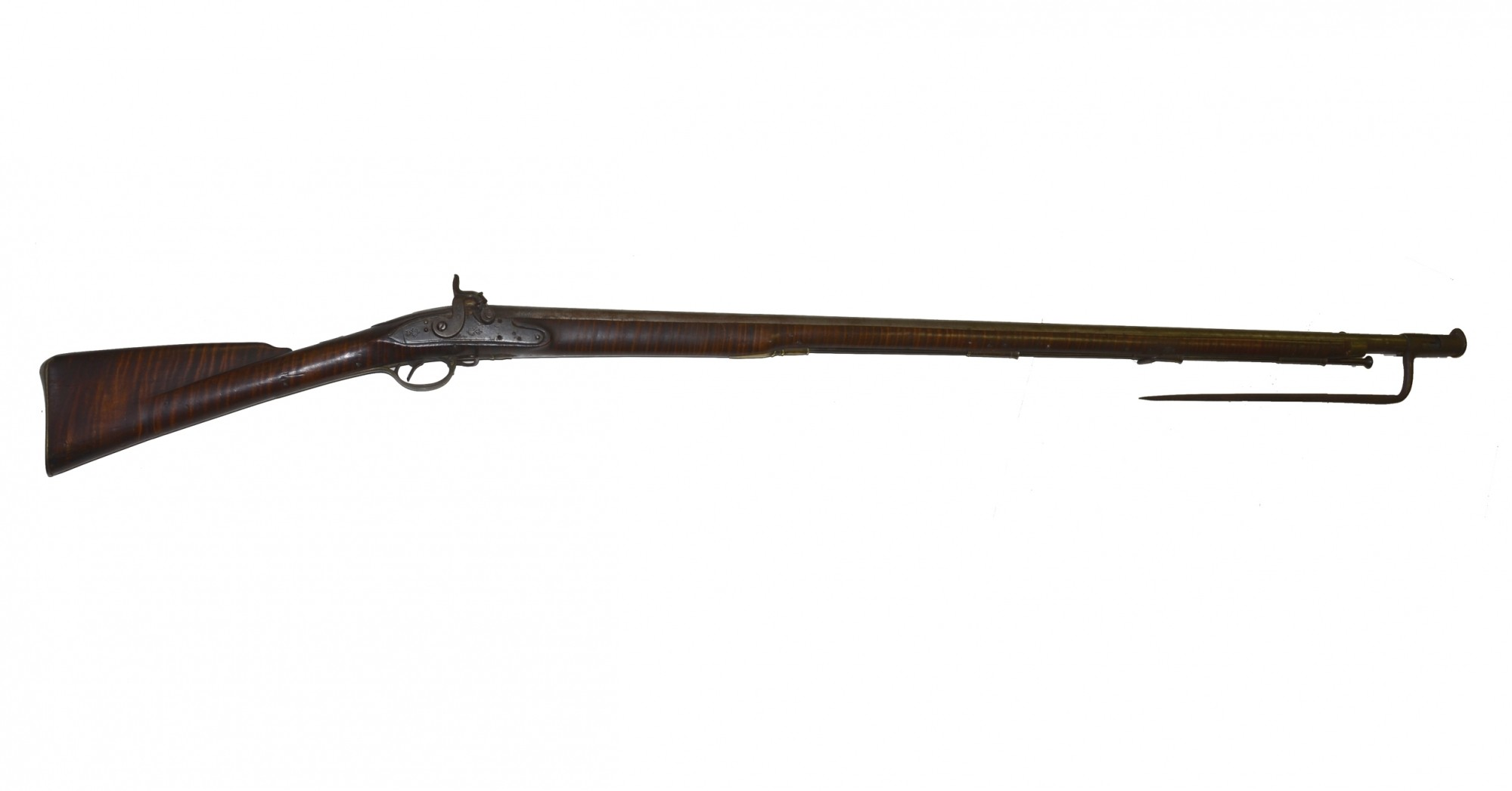 NEW ENGLAND MILITIA PERCUSSION MUSKET WITH BAYONET