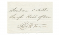 CONFEDERATE AUTOGRAPH / NOTE — GENERAL ROBERT BROOKE VANCE