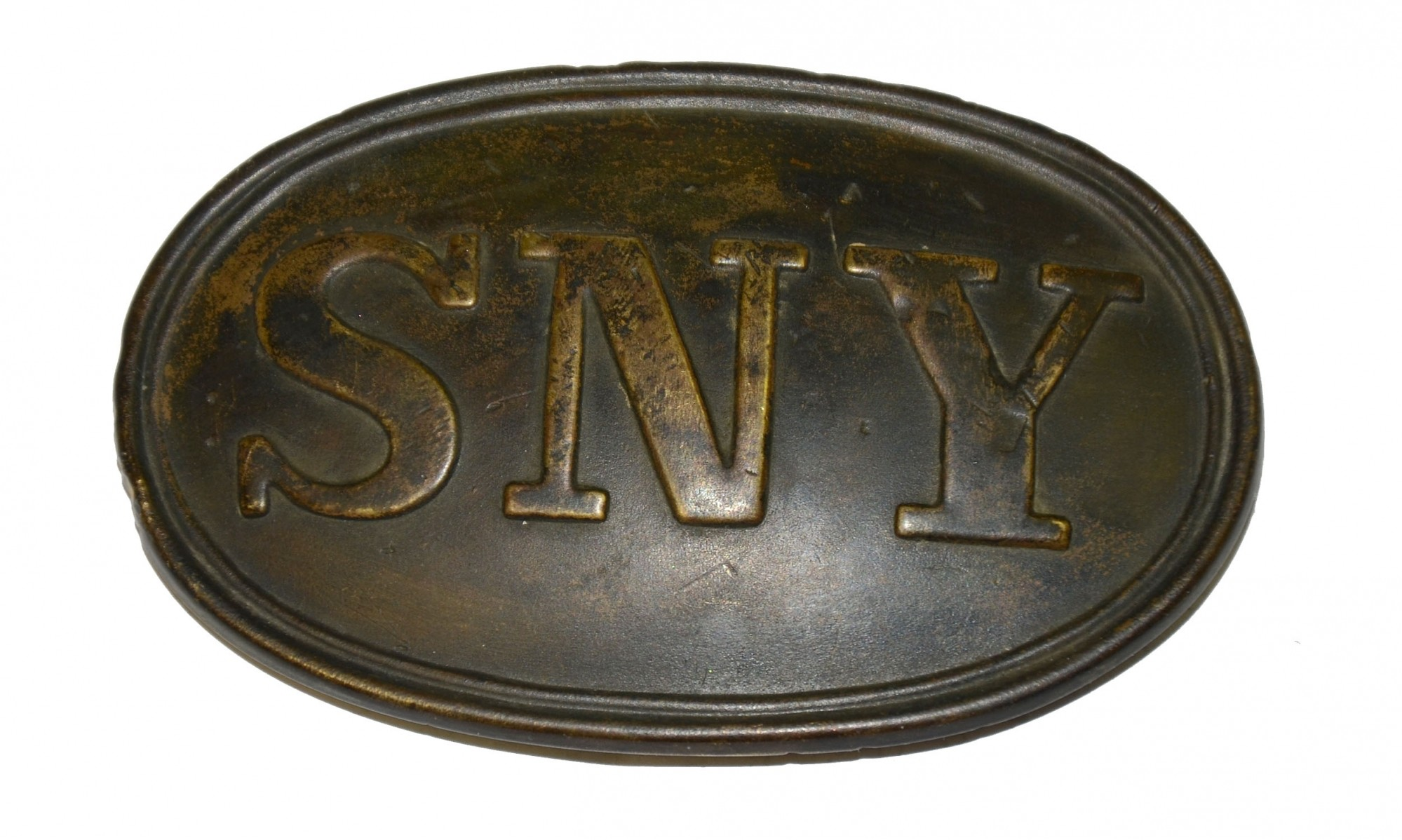 WONDERFUL CONDITION OVAL SNY WAIST BELT PLATE