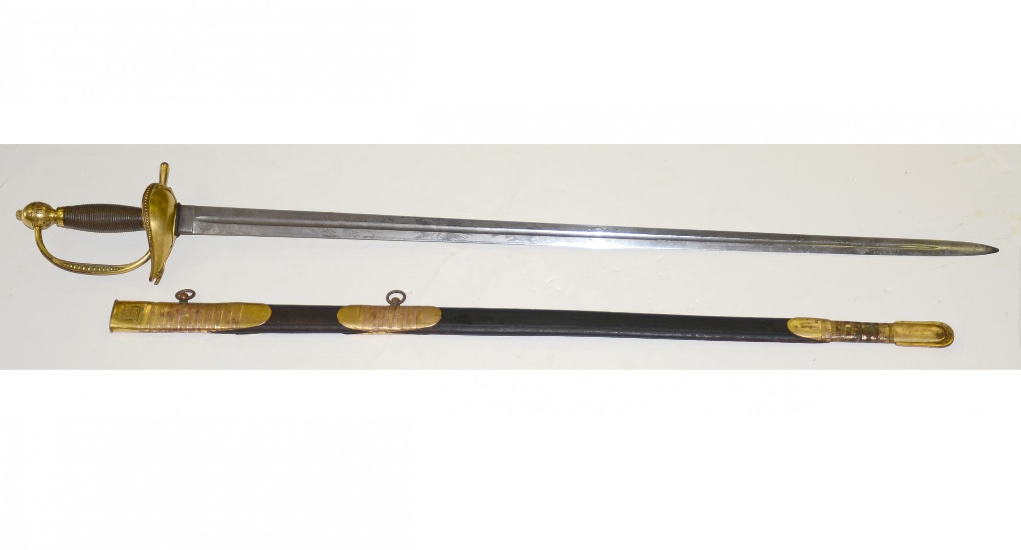 "MODEL 1834 REGULATION GENERAL OFFICER'S SWORD BY ""N.P AMES / CUTLER / SPRINGFIELD, MASS."""