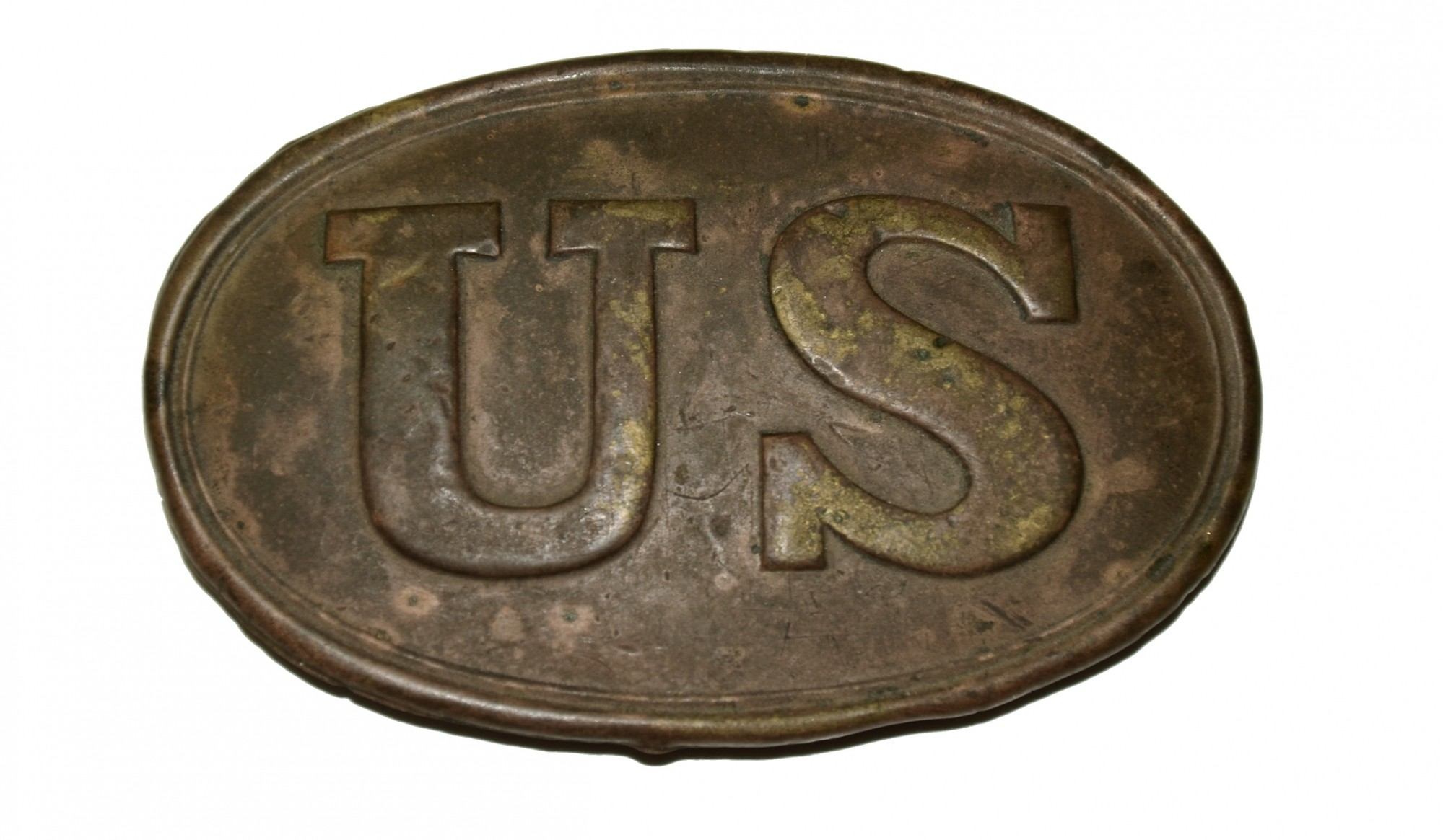 PATTERN 1839 OVAL US BELT PLATE