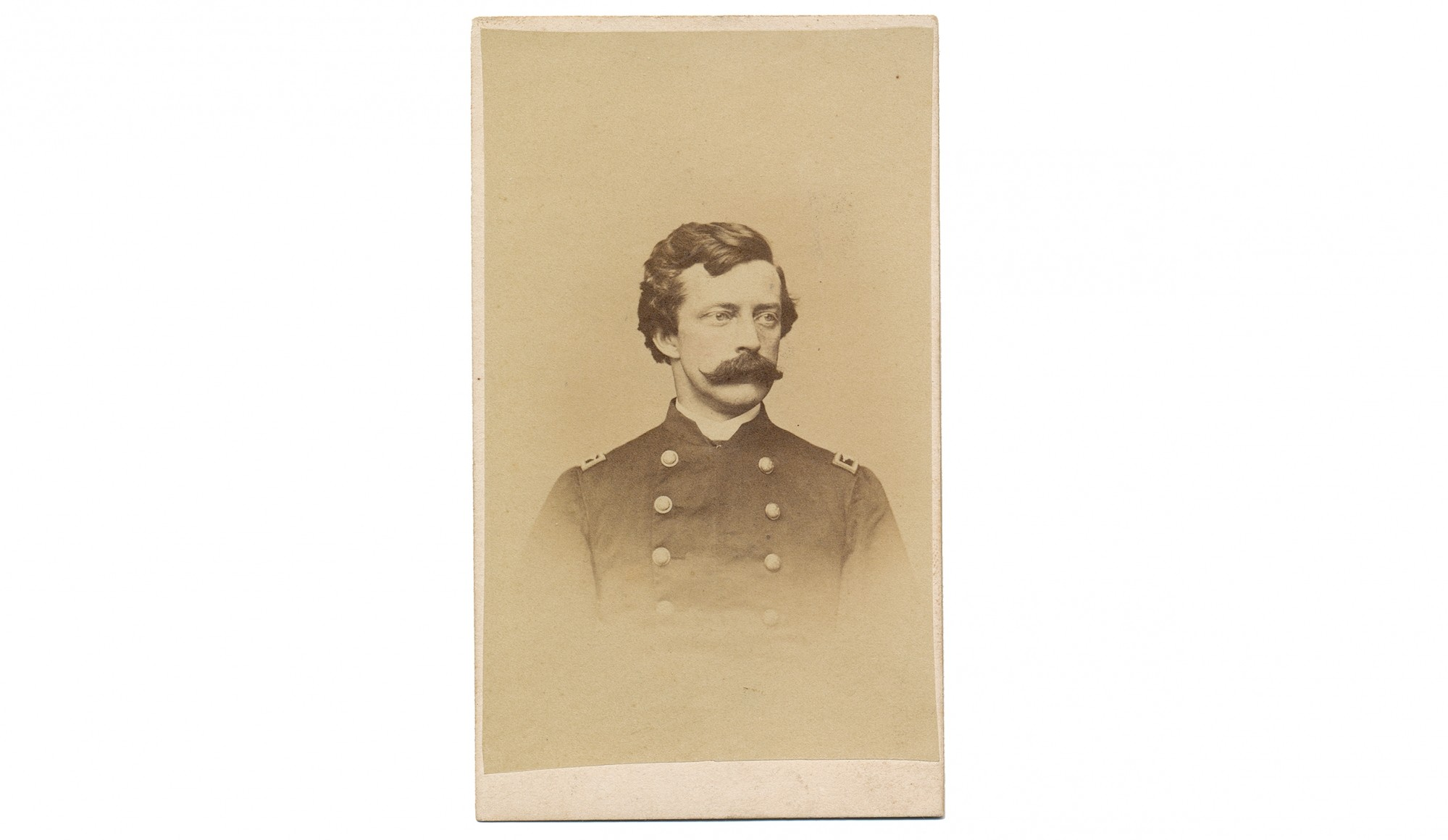 ID'D BUST VIEW OF NEW YORK ARTILLERY OFFICER