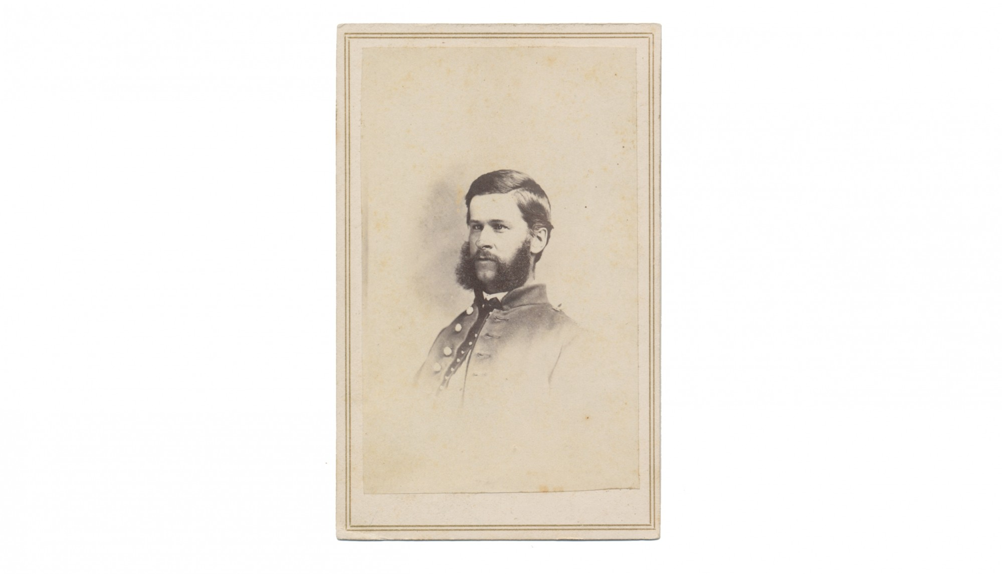 CDV OF 1ST CONNECTICUT HEAVY ARTILLERY SOLDIER