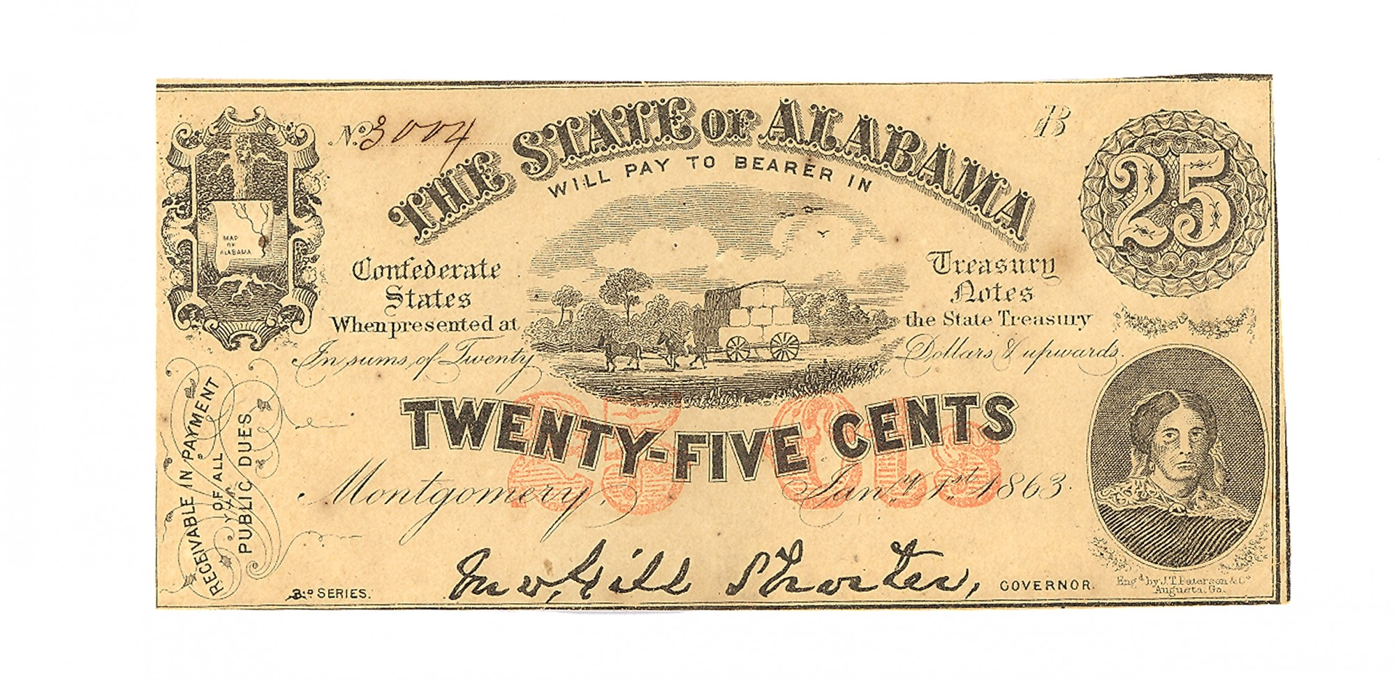 STATE OF ALABAMA $.25 NOTE