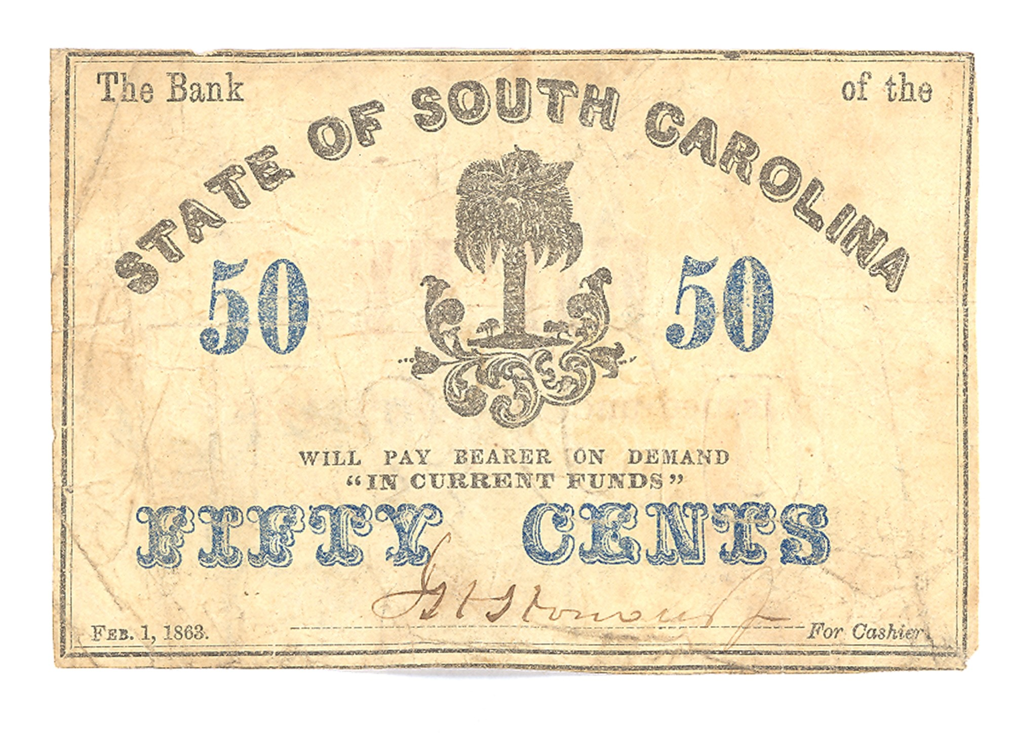 STATE OF SOUTH CAROLINA, SOUTH CAROLINA $.50 NOTE