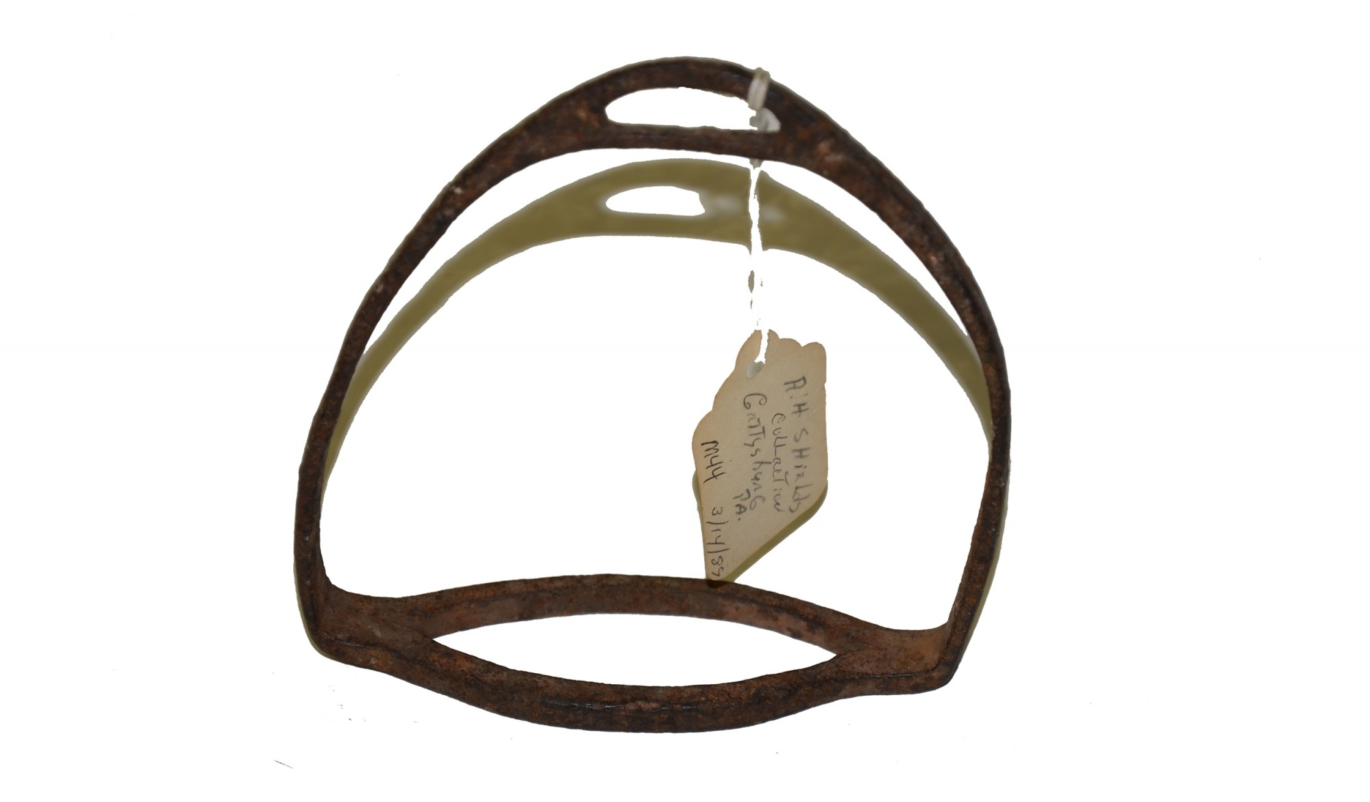 CONFEDERATE IRON STIRRUP FROM THE SHIELDS MUSEUM OF GETTYSBURG ARTIFACTS