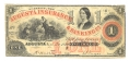 AUGUSTA INSURANCE & BANKING CO., AUGUSTA, GEORGIA, $1 NOTE