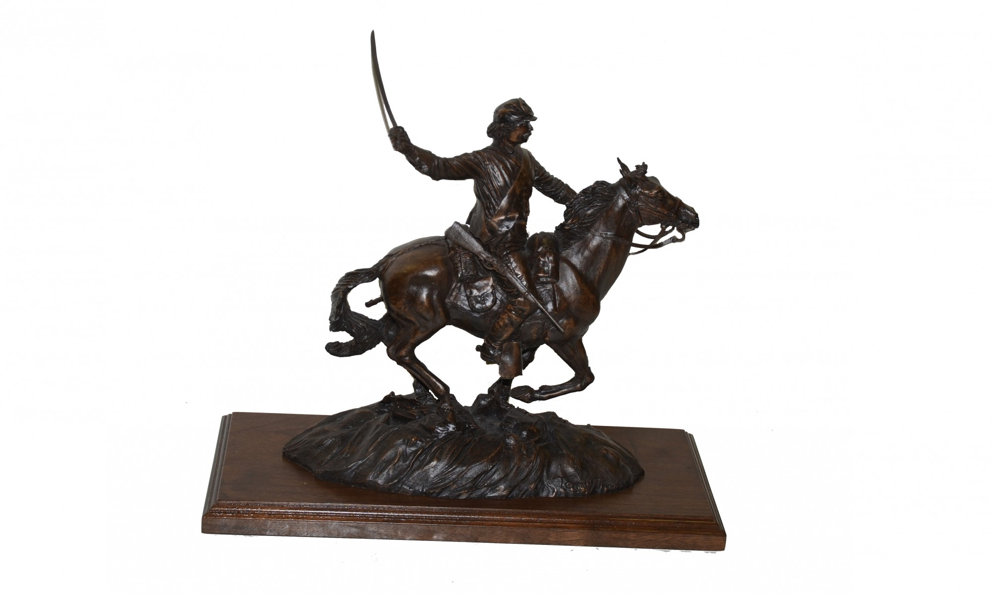 STATUE OF 'THE UNION CAVALRYMAN' BY TERRY JONES