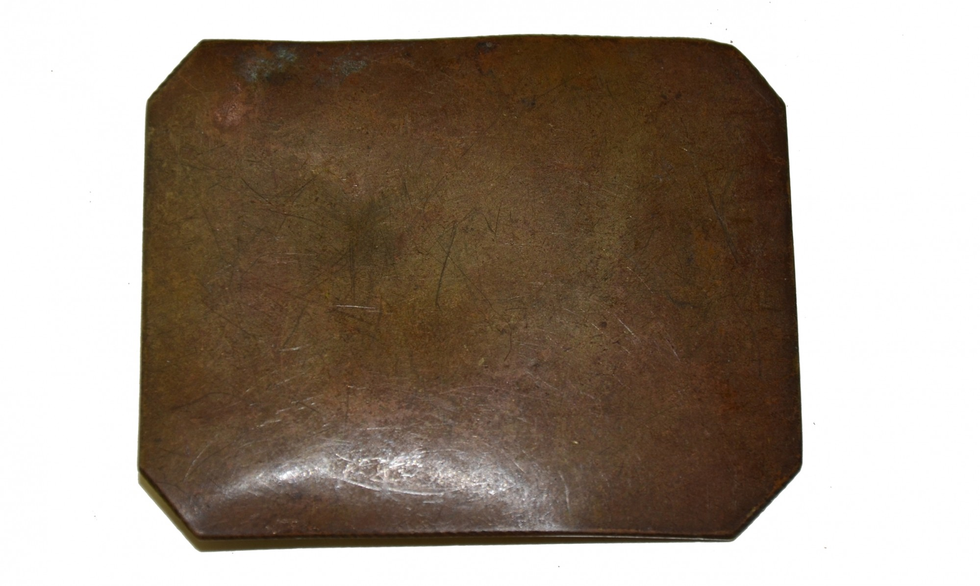 CIRCA 1850 RECTANGULAR CLIPPED CORNER BELT PLATE