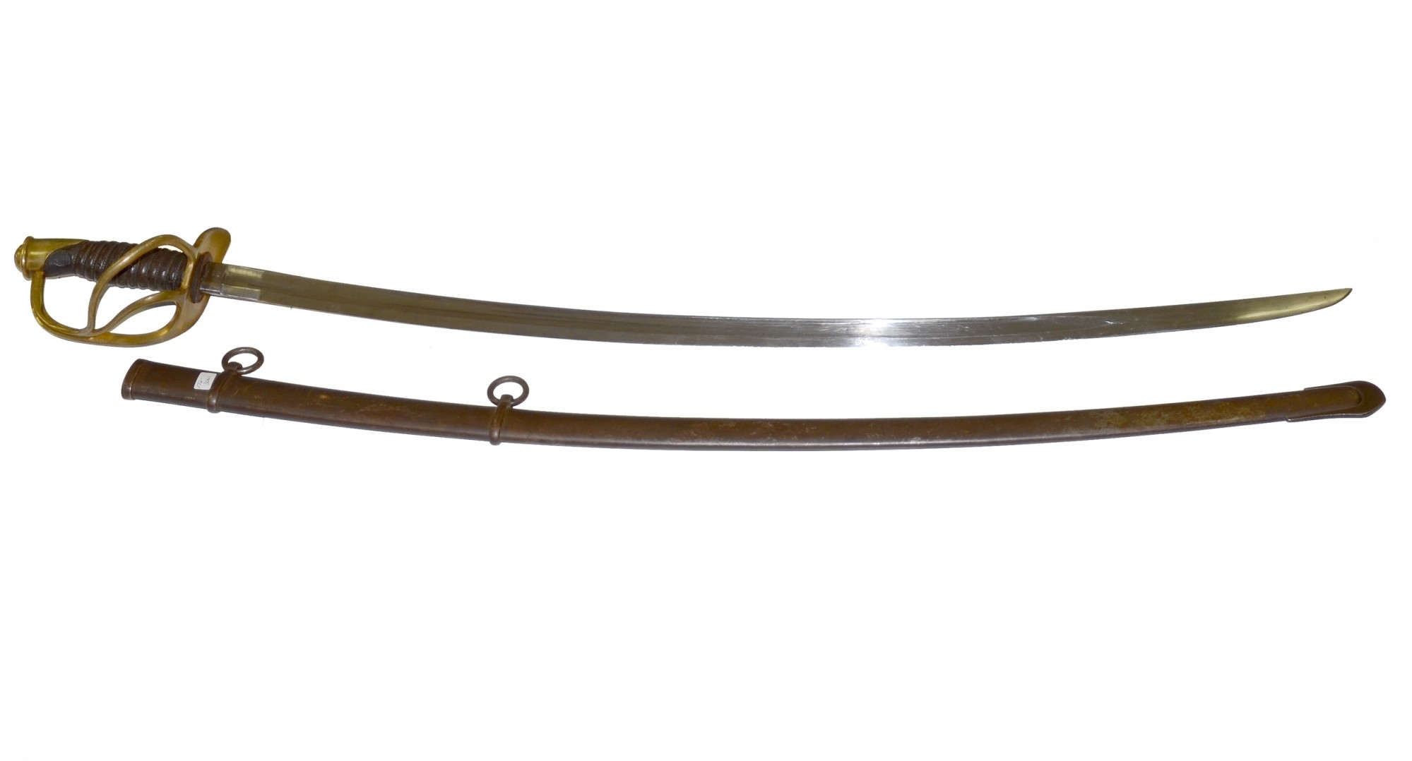 US MODEL 1860 ENLISTED CAVALRY SABER, DATED 1865