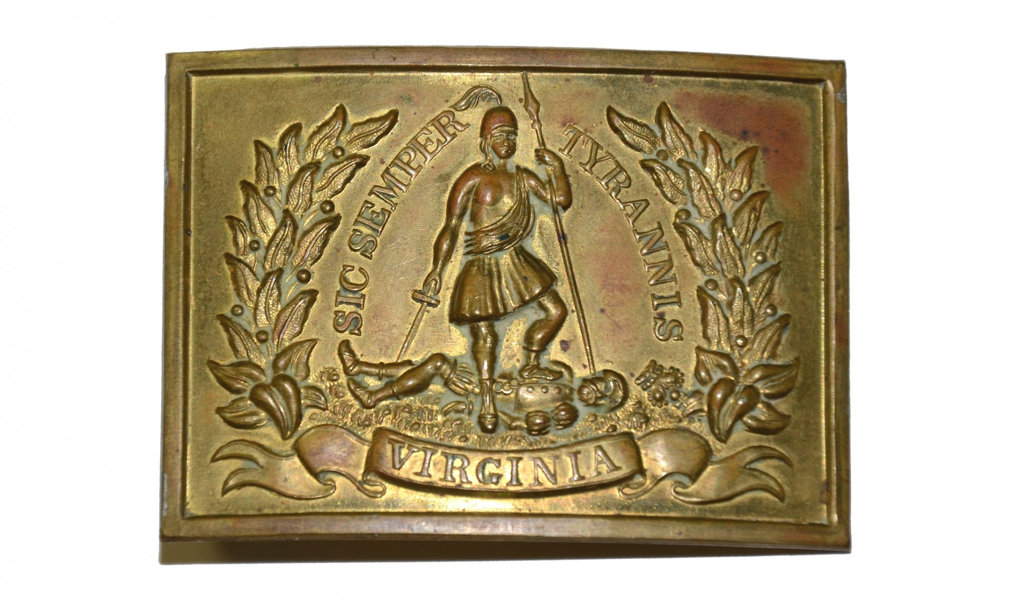 PRE-CIVIL WAR VIRGINIA RECTANGULAR SWORD BELT PLATE