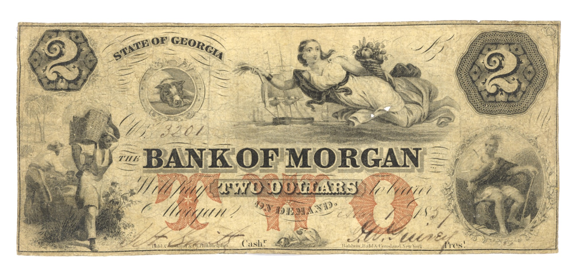 BANK OF MORGAN, GEORGIA, $2 NOTE