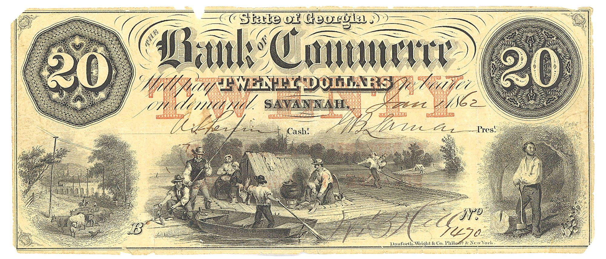 BANK OF COMMERCE, GEORGIA, $20 NOTE