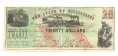 FAITH OF THE STATE PLEDGED, MISSISSIPPI, $20 NOTE