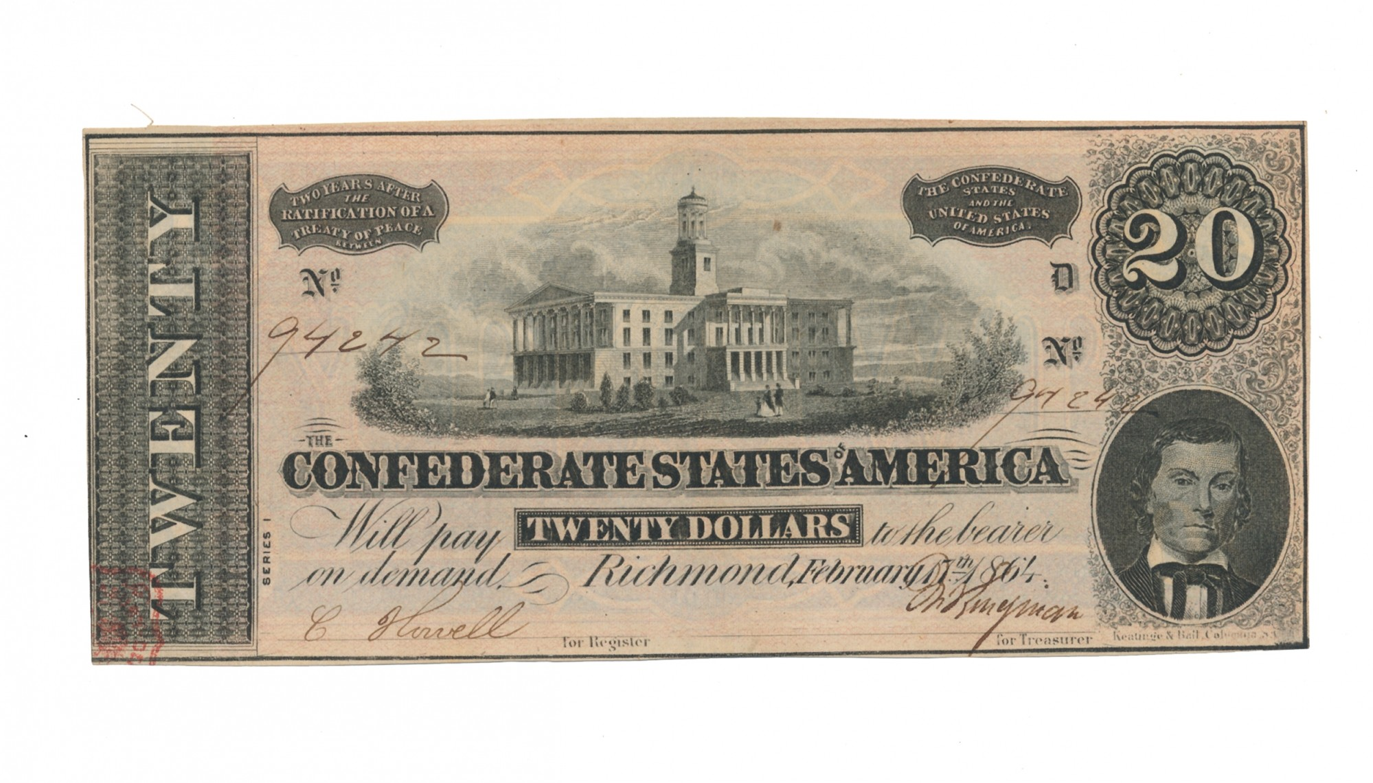 CSA T-67 $20 NOTE