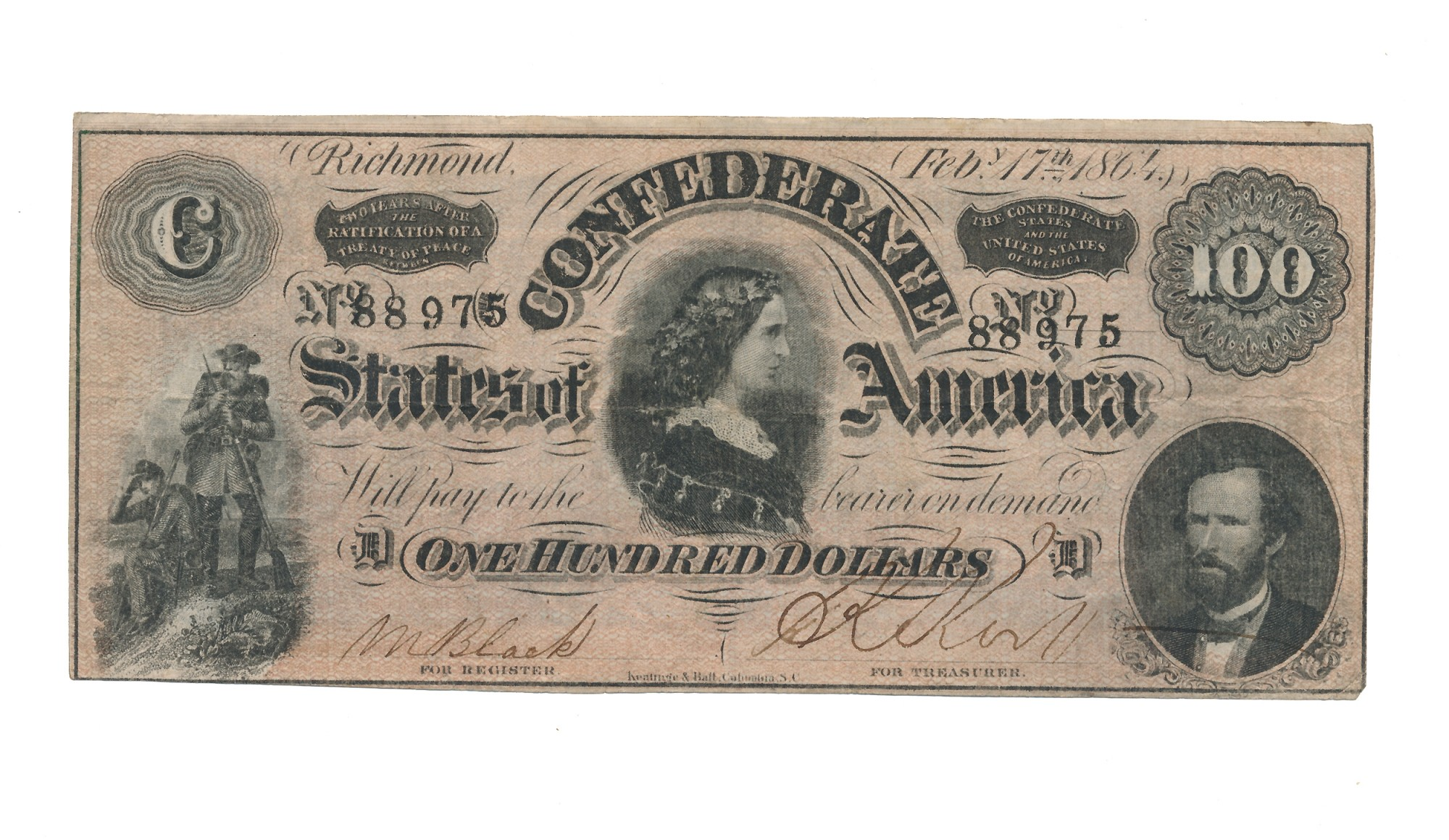 CSA T-65 $100 NOTE
