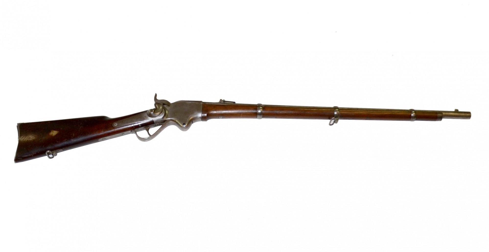 ID'D M1860 SPENCER REPEATING RIFLE CARRIED BY DAVID FRIAR, 7th INDEPENDENT CO., OHIO SHARPSHOOTERS