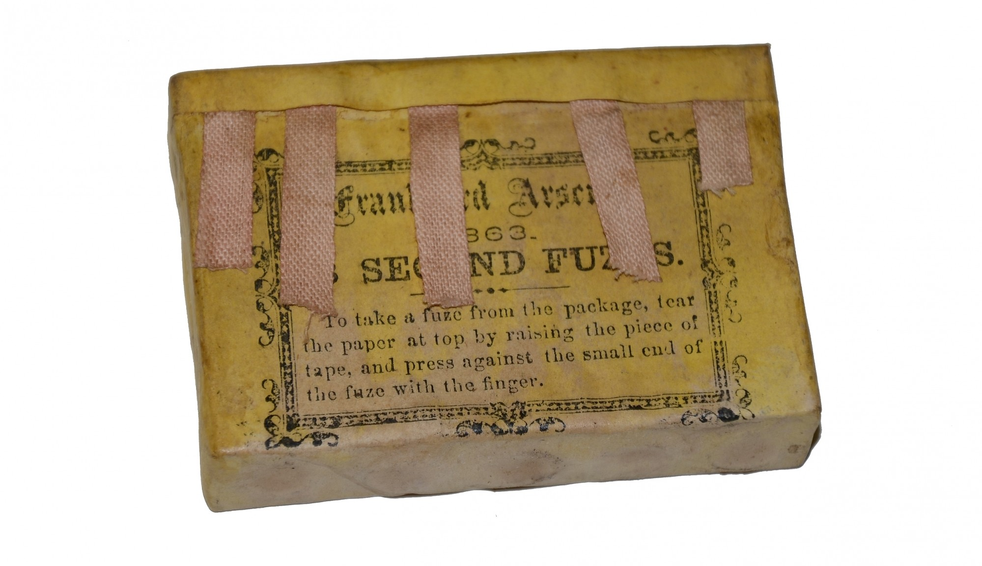 PACK OF UNOPENED ARTILLERY FUSES DATED 1863