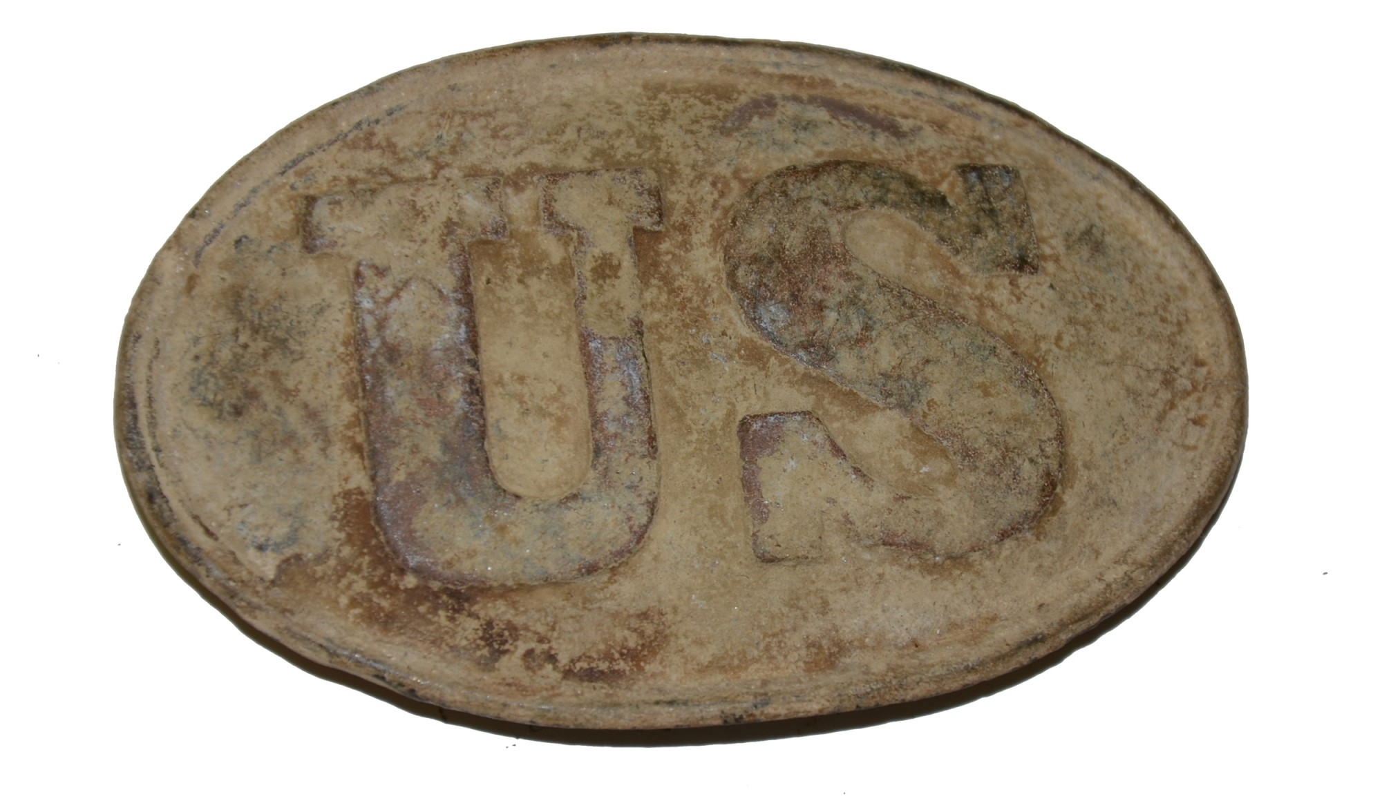 PATTERN 1839 OVAL US BELT PLATE RECOVERED IN THE FREDERICKSBURG AREA