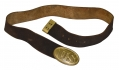 BUFF LEATHER US ENLISTEDMAN'S WAIST BELT AND PLATE