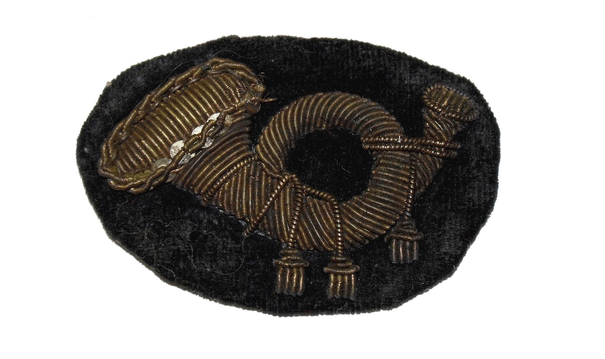 CIVIL WAR EMBROIDERED INFANTRY INSIGNIA FOR FORAGE CAP